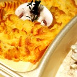 catering-oradea-Scallopine-pollo-funghi-Piure-de-cartofi-cu-dovleac